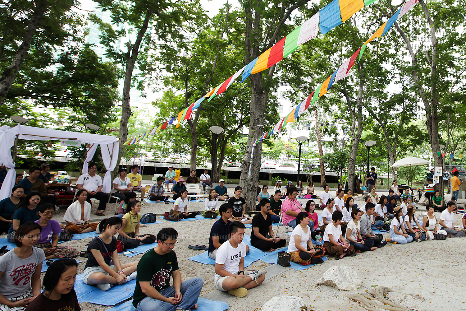 Buddhists have been invited to meditate countrywide to mark the 150th birthday of Luang Pu Mun. (Bangkok Post file photo)