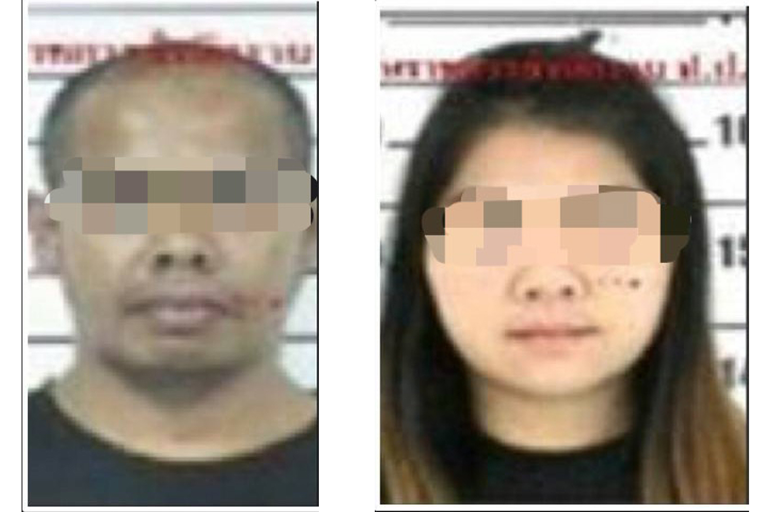 Photos of the two drug suspects - Phayao, left, and Sureerat, right - provided by the Office of the Narcotics Control Board. (Supplied)