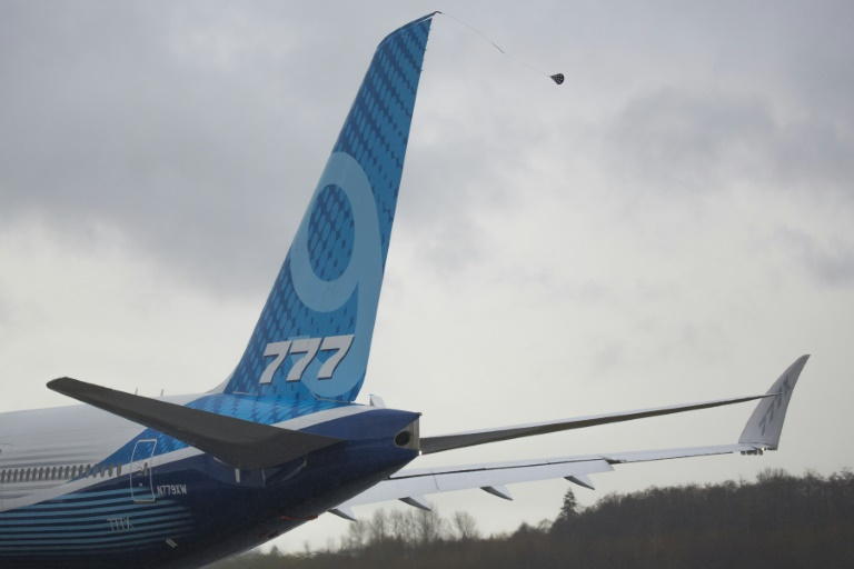International Business: Boeing's 777X jetliner successfully completes maiden flight