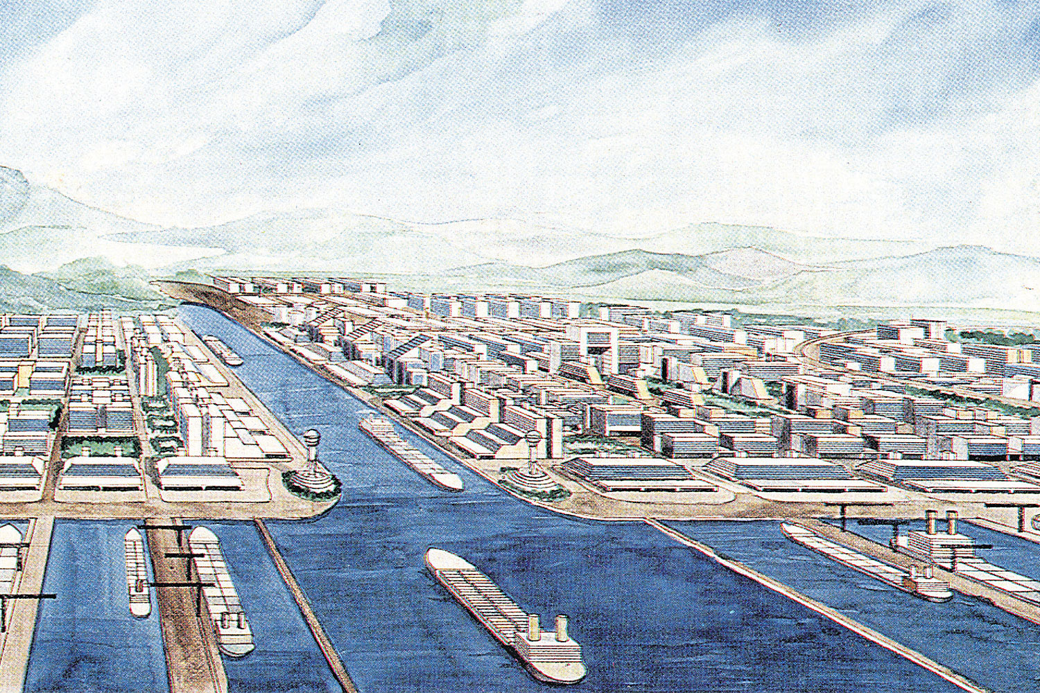 An artist's impression of the Kra Canal project, which has been mulled for centuries without any progress.
