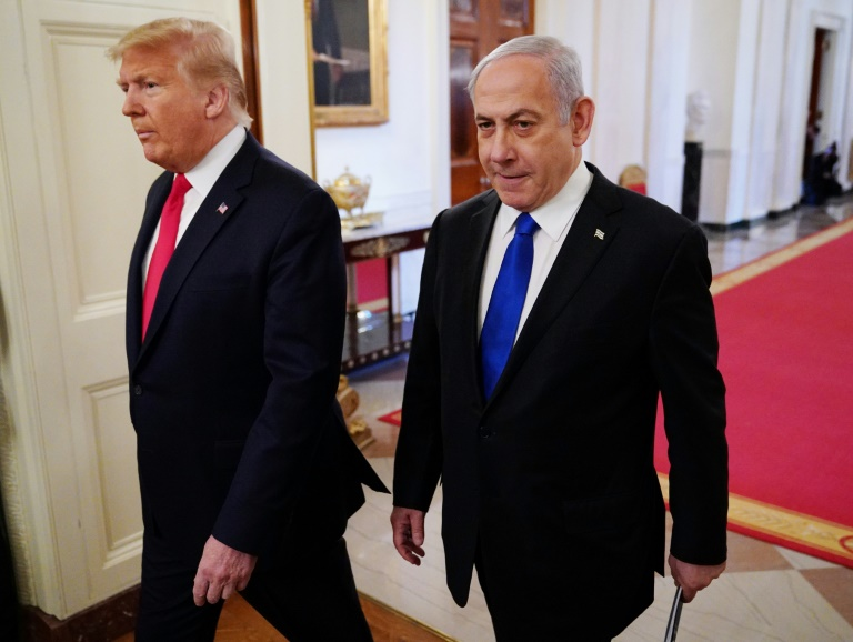 President Donald Trump was joined by Israeli Prime Minister Benjamin Netanyahu as he revealed key points of a peace plan already strongly rejected by the Palestinians.