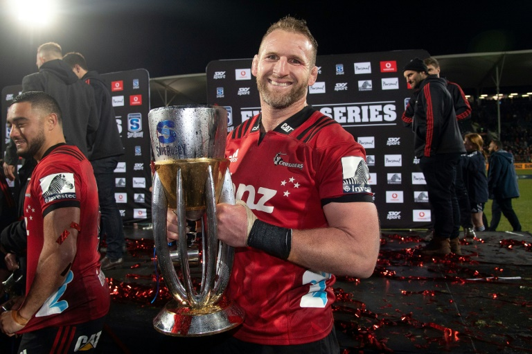 Canterbury Crusaders' Kieran Read holds the Super Rugby trophy after winning the 2019 final against Jaguares. But after 25 years the viability of the competition in its current unwieldy format straddling 16 time zones is again being questioned