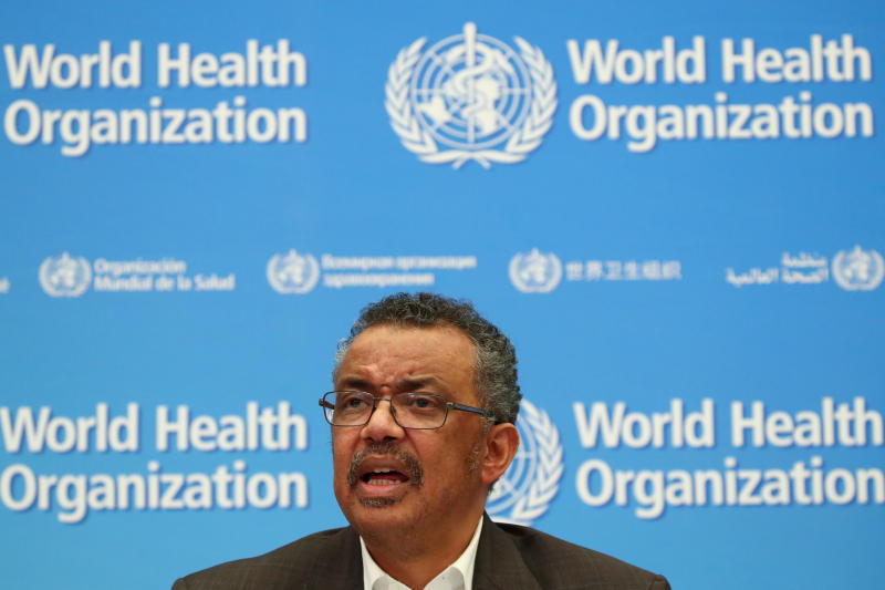 Director-General of the World Health Organization Tedros Adhanom Ghebreyesus speaks during a news conference after a meeting of the Emergency Committee on the novel coronavirus in Geneva on Thursday. (Reuters photo)