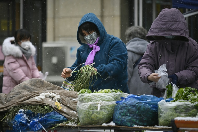 The coronavirus outbreak in China has disrupted supply chains, causing a spike in food prices. (AFP photo)
