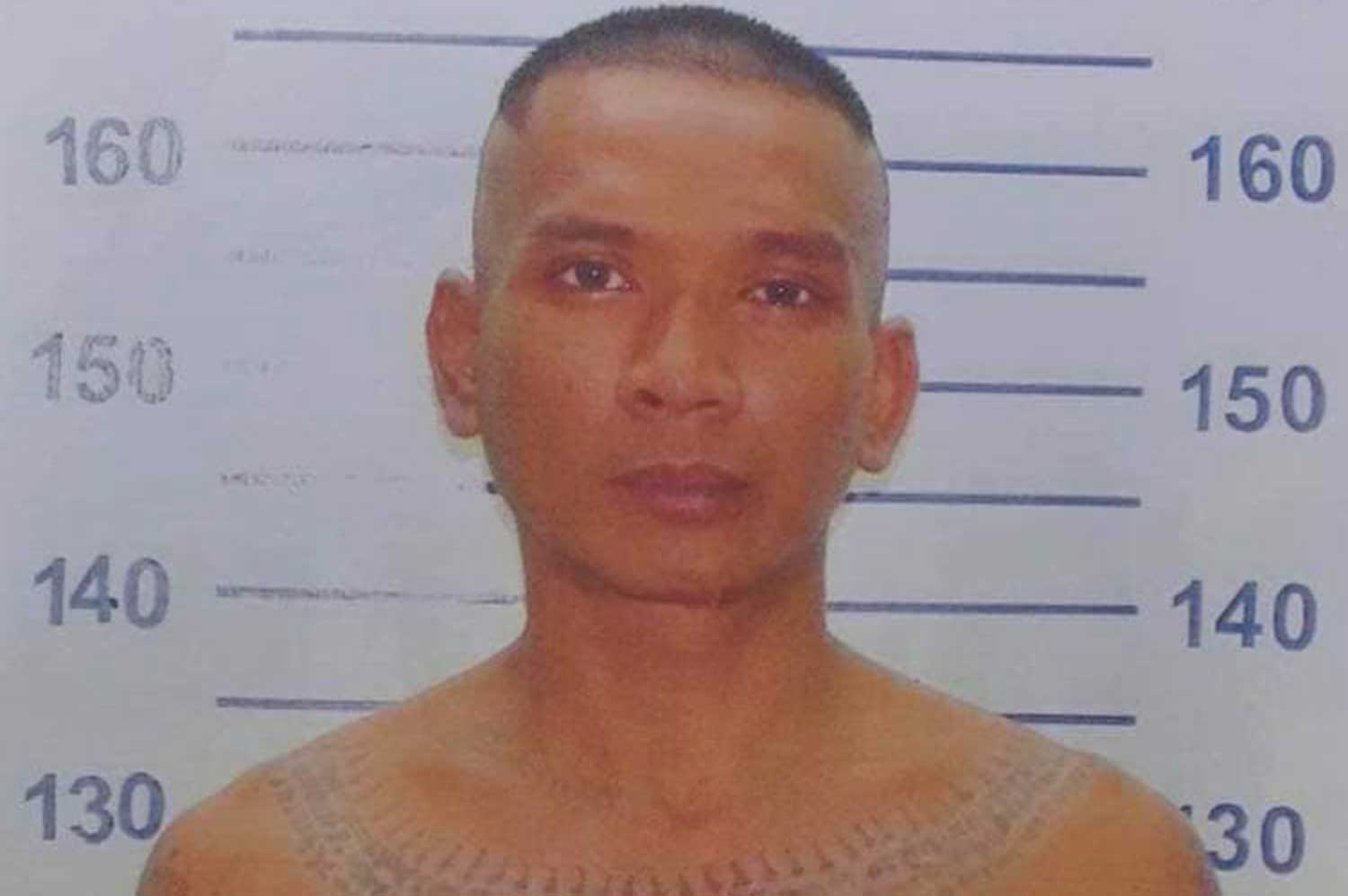 Kritsada Muangphrae, who was due to be released on Feb 28, escaped from Klong Prem Central Prison on Tuesday morning. (Photo: Police Facebook page)