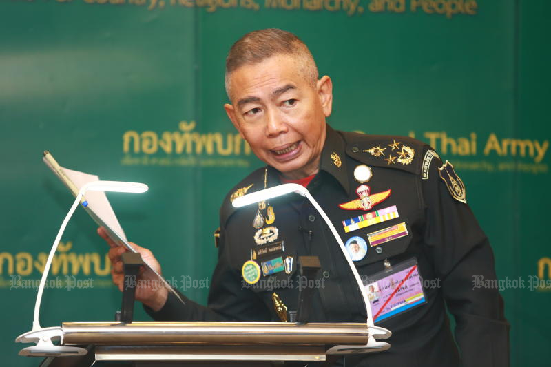 Army chief Gen Apirat Kongsompong said the army will sign a memorandum of understanding with the Finance Ministry to ensure sound management of its commercial and welfare schemes. (Bangkok Post file photo)