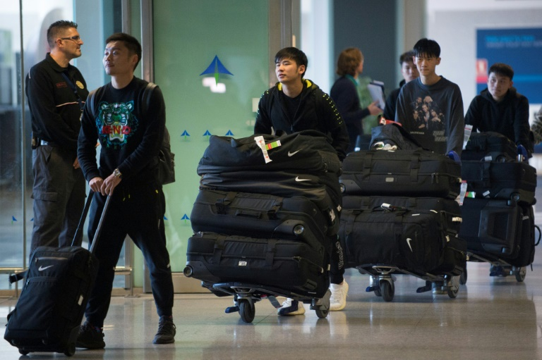 Wuhan Zall, the Chinese football team from the city at the centre of the outbreak, arrived at Malaga's Costa del Sol Airport on Jan 29, 2020.