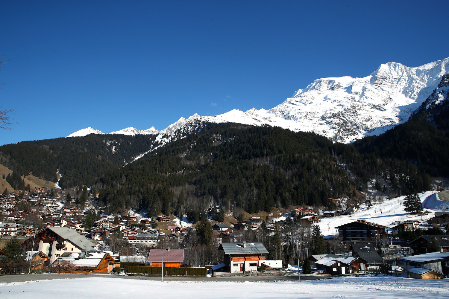 The French Alpine resort of Les Contamines-Montjoie is where five British nationals including a child contracted the coronavirus. They were staying in the same chalet as a Briton who had become infected while attending a corporate function at a hotel in Singapore. (Reuters Photo)