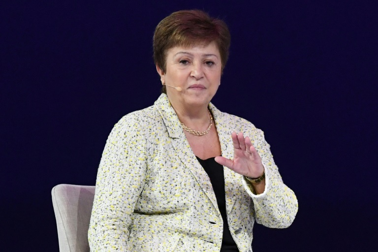 International Monetary Fund managing director Kristalina Georgieva at the Global Women's Forum in Dubai.
