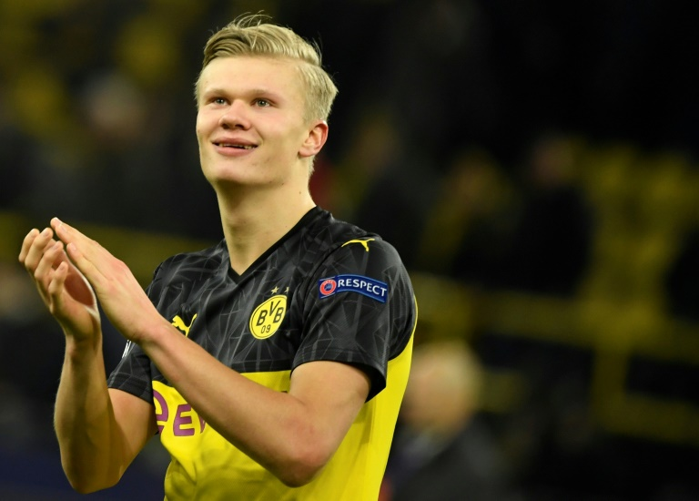 Dortmund's Norwegian forward Erling Braut Haaland is now the Champions League's joint top-scorer this season with 10 goals in Europe.