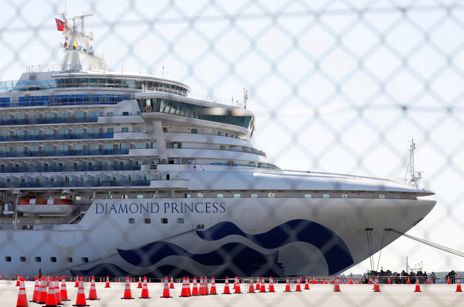 The cruise liner Diamond Princess, in quarantine in Yokohama Port, near Tokyo. (Photo: Reuters)