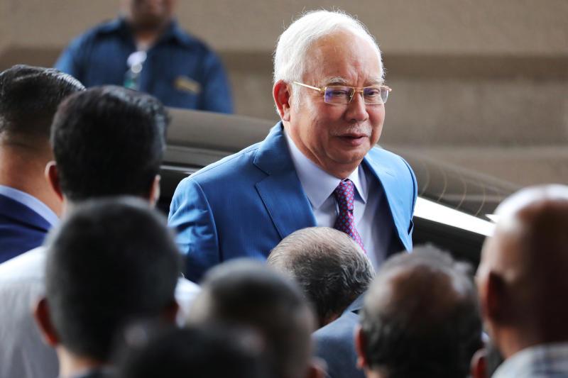 Former Malaysian Prime Minister Najib Razak arrives at Kuala Lumpur High Court in Kuala Lumpur, Malaysia, Dec 3, 2019. (Reuters file photo)