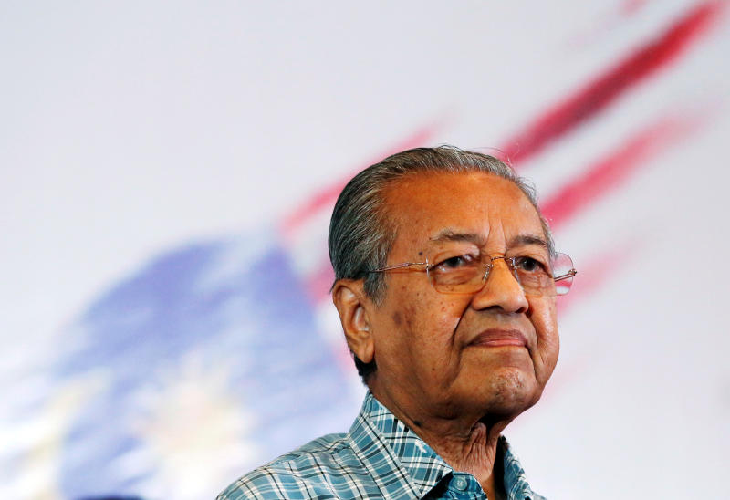 Former Malaysian Prime Minister Mahathir Mohamad attends a meeting of political and civil leaders looking to change the government in Kuala Lumpur, Malaysia, March 27, 2016. (Reuters file photo)