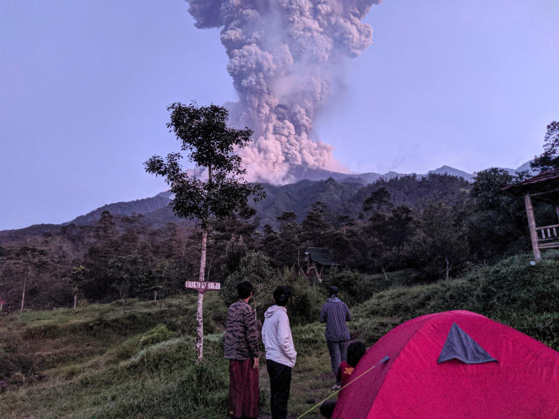 Indonesia volcano Mount Merapi erupts, spews ash