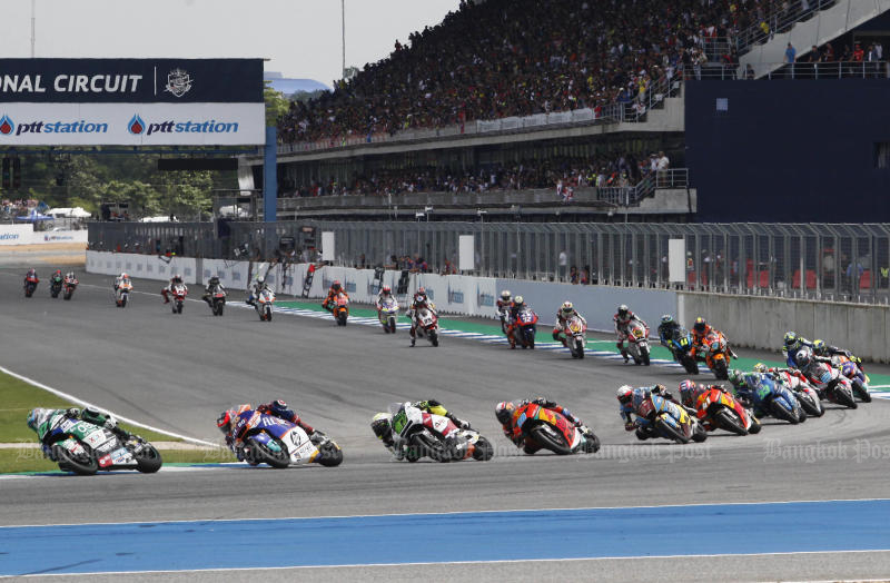 The OR Thailand Grand Prix in Buri Ram is rescheduled for Oct 3-4. (Bangkok Post photo)