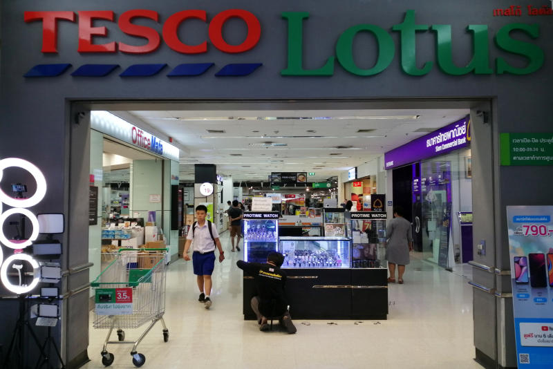 A view of the entrance to a Tesco Lotus retail shop in Bangkok. (Reuters photo)