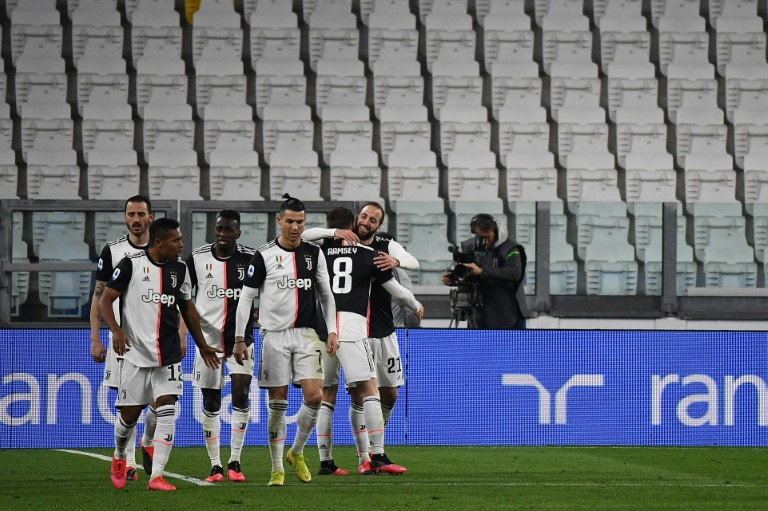 Juventus beat Inter in empty stadium