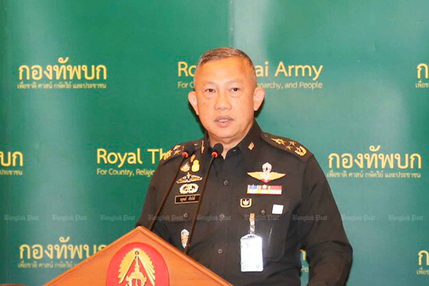 Gen Nathaphon Srisawat, special adviser to the army.