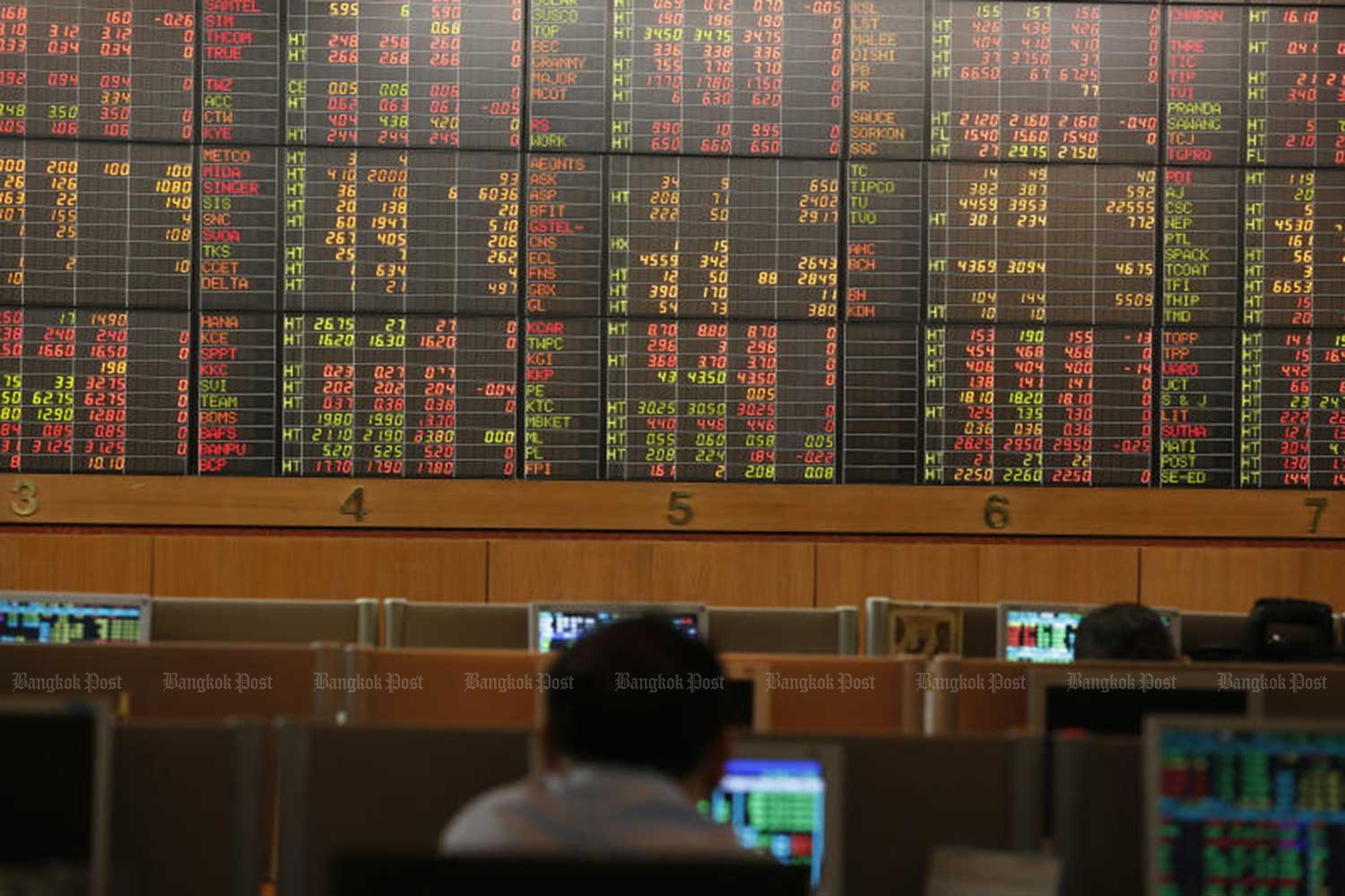 Stock market on March 13. (File photo)