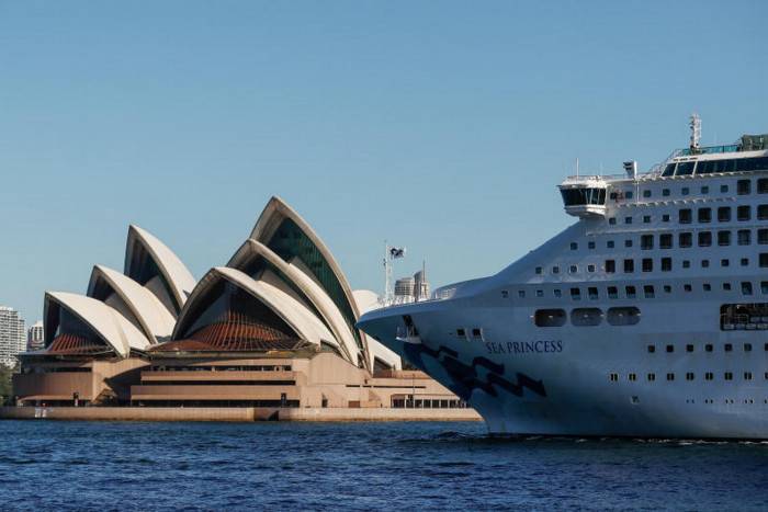 Cruise Ships Stack Up In Sydney Harbour As Ports Barred