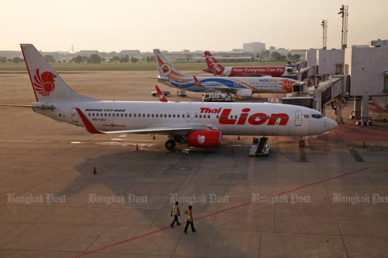 Thai Lion Air will stop flying from March 25 but expects to resume services from May 1. (Post Today photo)
