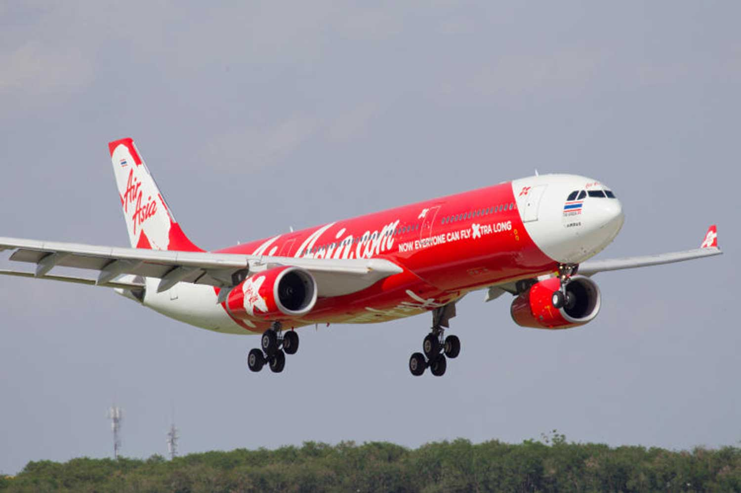 Thai AirAsia suspends all international flights from Sunday to April 25 in the wake of the coronavirus outbreak. (AirAsia photo)
