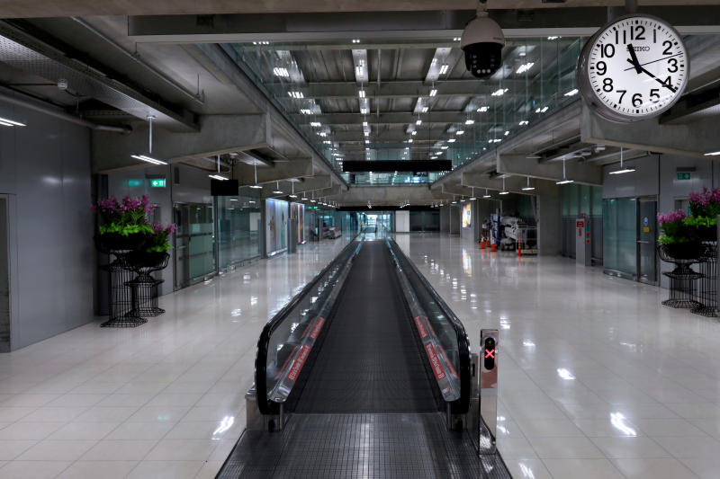 An empty arrivals terminal following the coronavirus outbreak, at Suvarnabhumi Airport in Samut Prakan province on March 12, 2020. (Reuters file photo)
