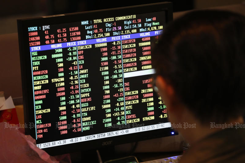A circuit breaker is applied after the SET index plunged 8% on Monday. (Bangkok Post file photo)