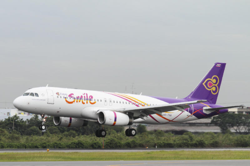 THAI Smile international flights are grounded from Monday. (THAI Smile photo)