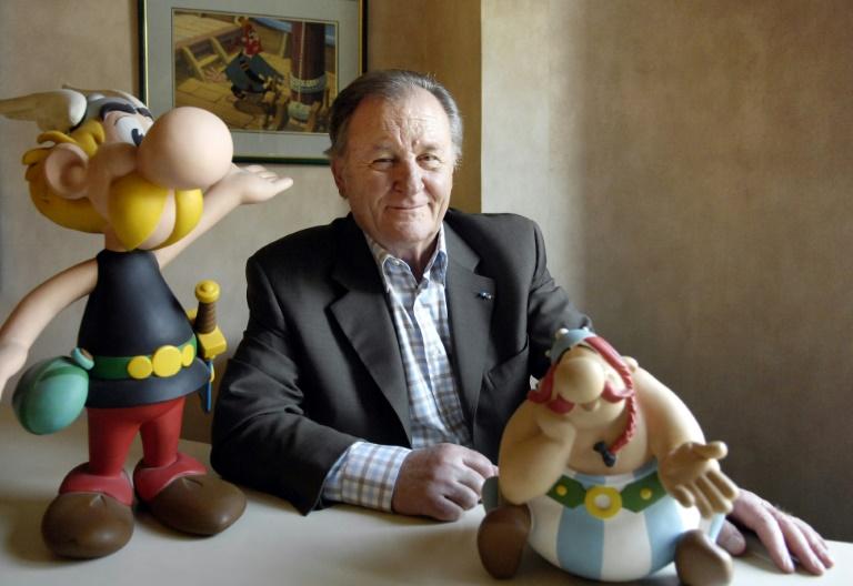 Albert Uderzo created the plucky Gaul Asterix with fellow Frenchman Rene Goscinny in 1959.