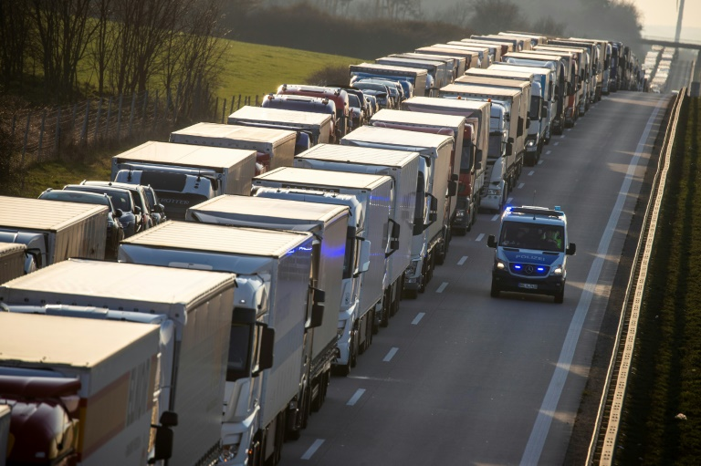 Limits on cross-border movement have worsened the economic impact. (AFP photo)
