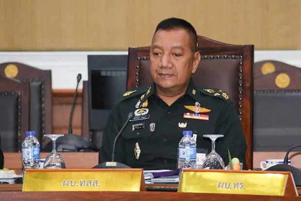 Defence Forces chief Gen Pornpipat Benyasri wants people to stay home on the weekend as the number of coronavirus cases jumps. (Royal Thai Army photo)