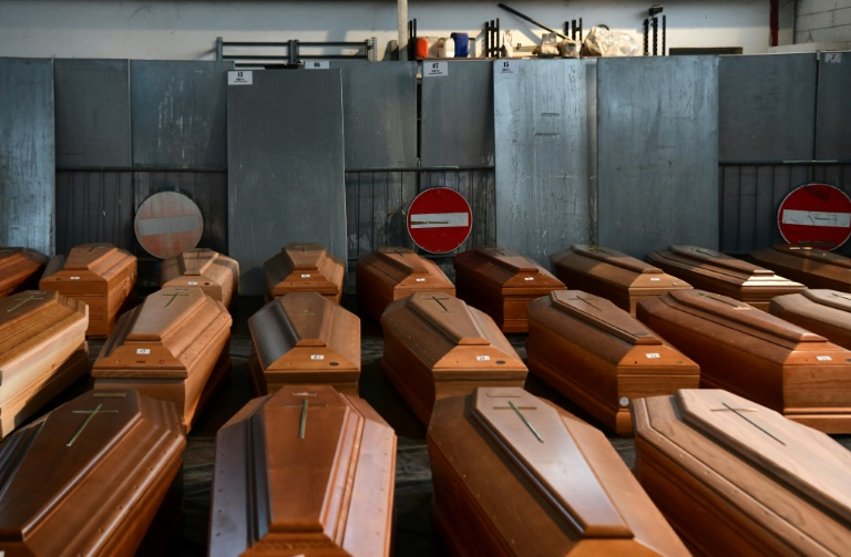 The endless flood of victims forced the city of Bergamo at Italy's northern epicentre of the pandemic to send still more bodies to less burdened crematoriums.