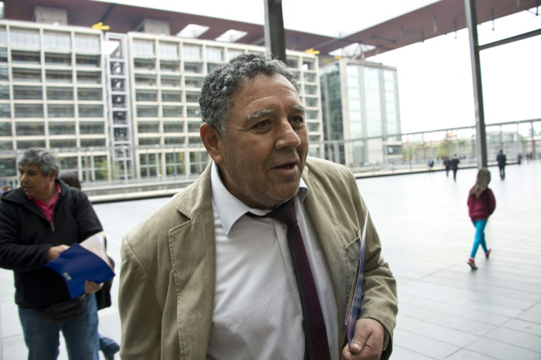 Chilean miner Luis Urzua, pictured on November 2, 2015 in Santiago