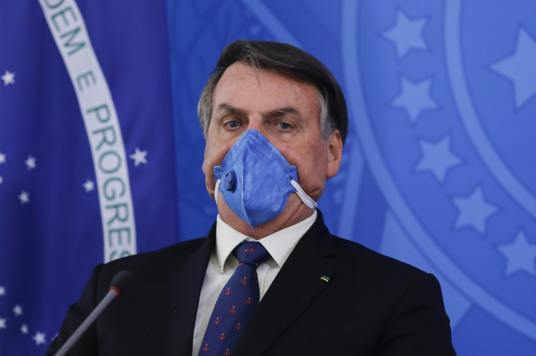 Brazilian president Jair Bolsonaro shared videos showing him flouting his government's social distancing guidelines