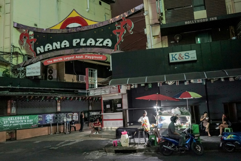 Red-light districts from Bangkok to Pattaya have gone quiet with night clubs and massage parlours closed and tourists blocked from entering the country.