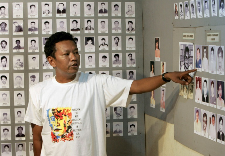 Pro-democracy activist Bo Kyi, seen here in 2007, spent eight years behind bars in Myanmar.
