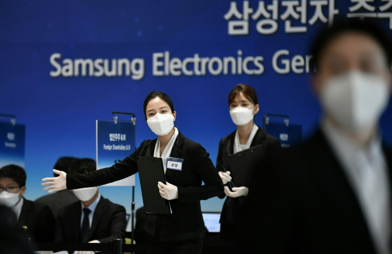 The pandemic is wreaking havoc across the global economy and Samsung had operations suspended at 11 overseas assembly lines as of Tuesday.