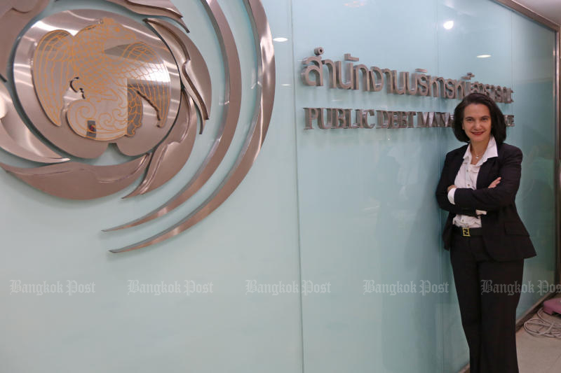 Patricia Mongkhonvanit, director-general of the Public Debt Management Office. (Photo by Varuth Hirunyatheb)