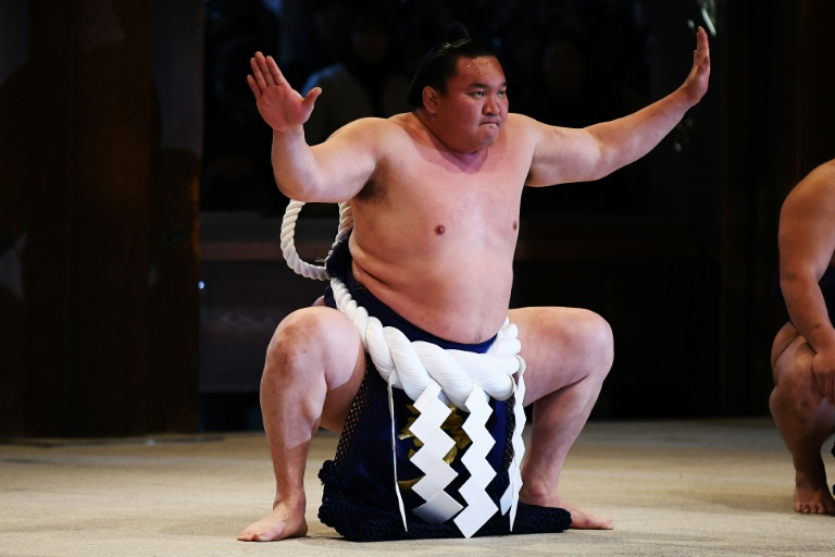 Sumo's spring tournament in Osaka was held behind closed doors over concerns about the coronavirus