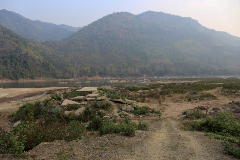 A general view of the future site of the Luang Prabang dam is seen on the Mekong River outskirt of Luang Prabang province, Laos, Feb 5, 2020. (Reuters photo)
