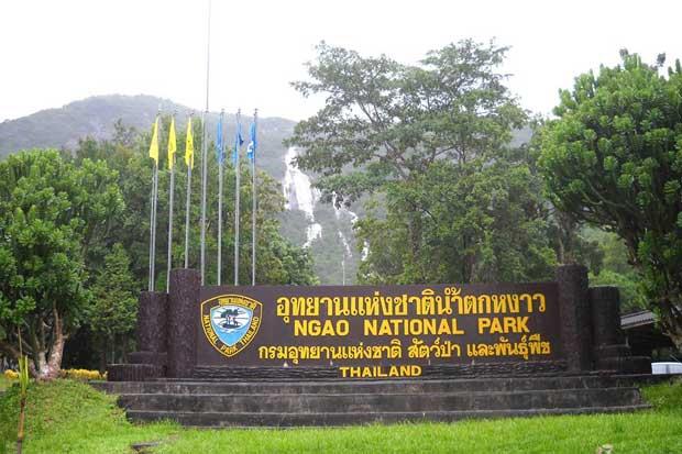 Ngao Waterfall National Park is a tourist attraction in Ranong. (Ngao Waternall National Park Facebook account)