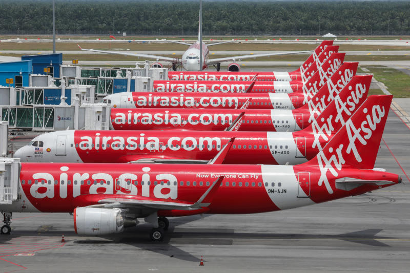 AirAsia planes are seen parked at Kuala Lumpur International Airport 2, during the movement control order due to the outbreak of the coronavirus disease (Covid-19), in Sepang, Malaysia April 14, 2020. (Reuters file photo)