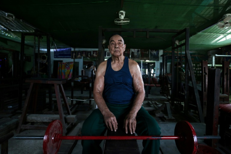 Sein Maung has been bodybuilding for 70 years