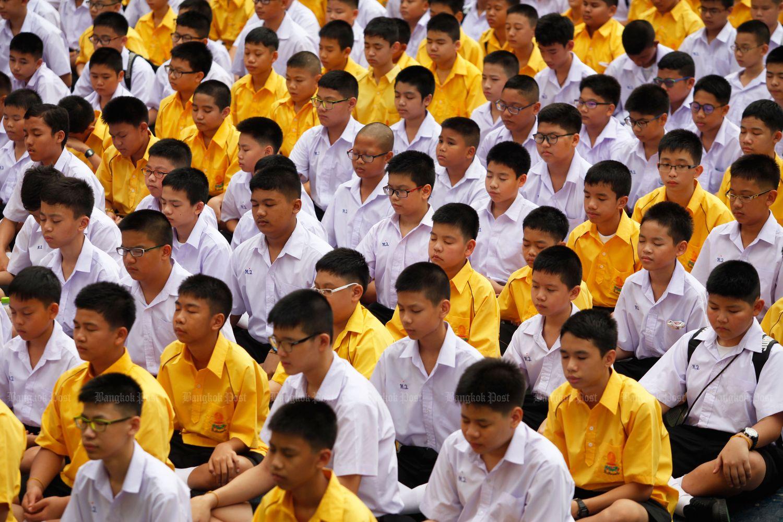 First day at school at Horwang School in Bangkok in 2015. (Bangkok Post file photo)