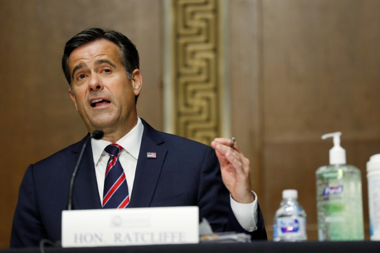 Republican Representative John Ratcliffe testifies before a Senate Intelligence Committee reviewing his nomination as US Director of National Intelligence.