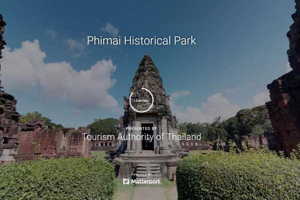 The Tourism Authority of Thailand provides a 3D virtual tour of Phimai Historical Park in Nakhon Ratchasima.