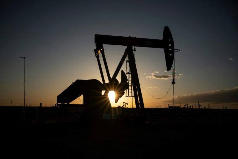 Oil pumps in Eddy County, New Mexico, part of the Permian Basin crude oil field hit hard by the brutal drop in petroleum prices