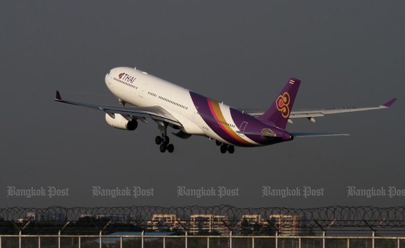 Thai Airways International needs a 54-billion-baht short-term loan for use as working capital. (Bangkok Post photo)
