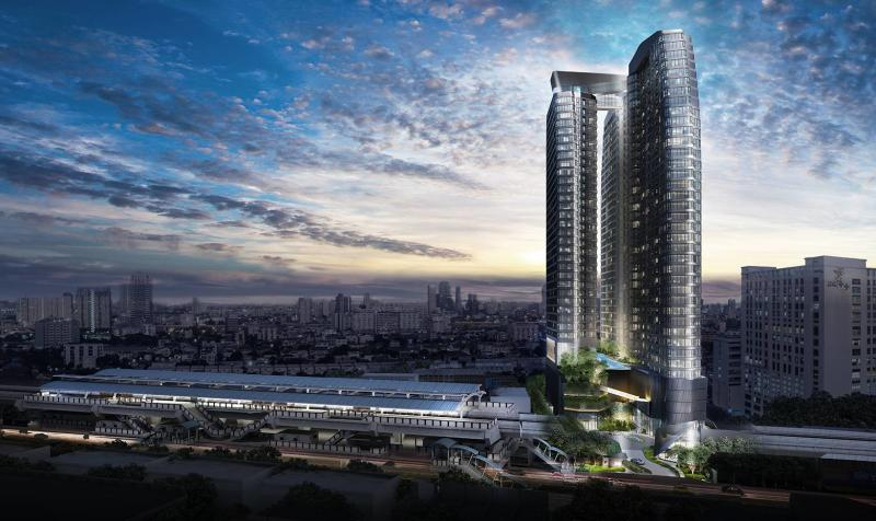 An artist's rendering of Ideo Q Phahol-Saphan Kwai, a condo project launched in 2019 by Ananda Development Plc. (Image supplied)